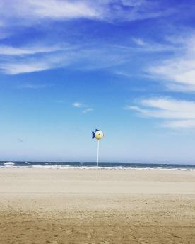 Les balises de la plage